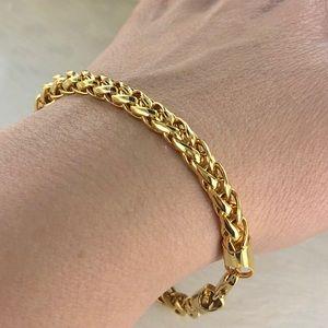 """Rope Gold Tone Bracelet - Size 8.5"""""""
